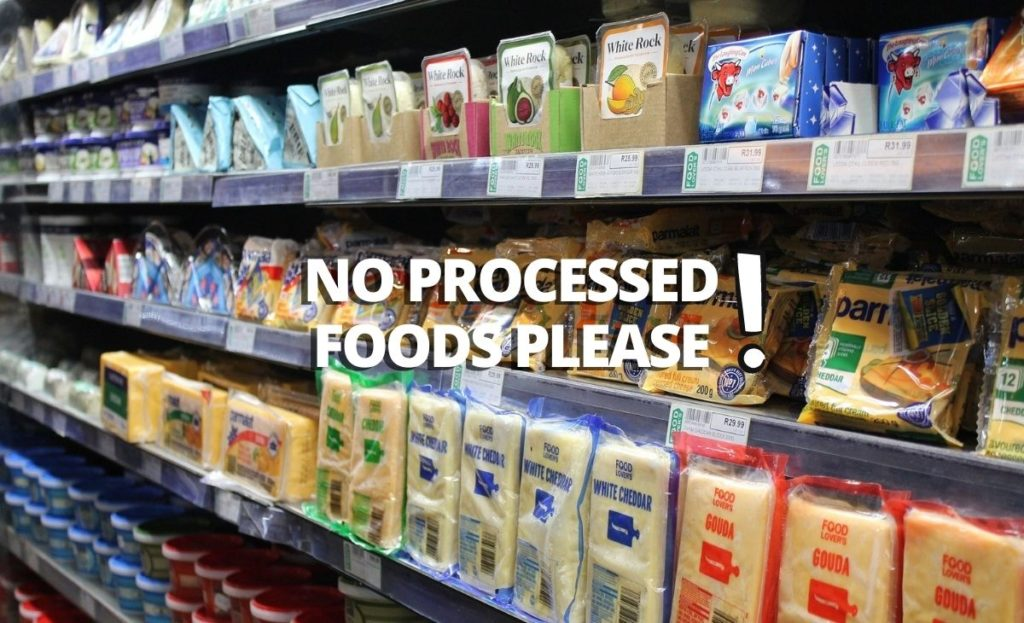 No processed foods for guppies
